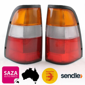 Pair of Amber Top Tail Lights Left & Right for Holden Rodeo TF Ute 1997-2003