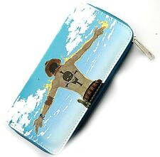 Anime One Piece Luffy Portgas D Ace Long Zipper Wallet Purse Leather Girls Gift