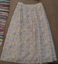 Vintage Jos A Bank Clothiers Womens Floral Skirt Sz 8 3/4 Length Lined
