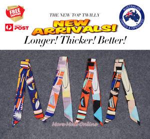 AMIGO Twilly Multi-Use Mini Scarf Wrist Head Band Bag Ribbon Bow Tie Wrap 1805