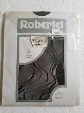 Vintage Collant Mode taille 1/2 Noir marque ROBERTEL modelé Deuxcoeurs  NEUF