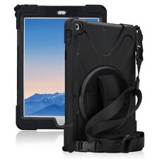For iPad 6th 5th Gen Cover Rugged Cushion Triple-Layer Military Drop Tested Case