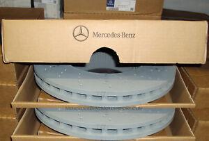 Mercedes-Benz OEM Front Brake Rotors Disks 2014 to 2020 S 550 560 450 (Set of 2)