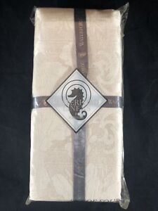 New Set of 4 Waterford Linens I'm Ainsley Ivory Cream Damask Cloth Napkins