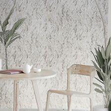 Embossed Textured Wallpaper cream tan brown faux plaster wave stroke textures 3D