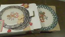 4 NIB 1998 Tienshan Folk Craft Gingerbread Dinner Plates