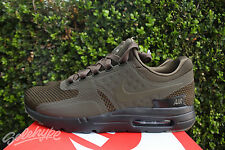 NIKE AIR MAX ZERO PREMIUM SZ 8.5 DARK LODEN GREEN BLACK 881982 300