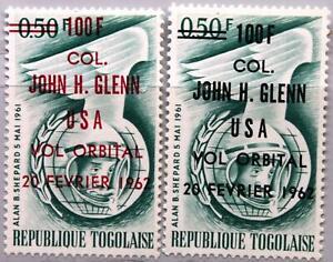 TOGO 1962 339 a-b Raumflug John Glenn ovp ÜD Space Flight Astronaut MNH