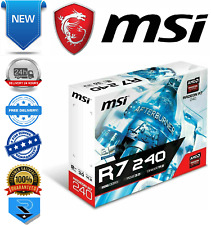 MSI RADEON R7 240 64B LP Graphics Card 2GB DDR3, 600 MHz, Low Profile Design