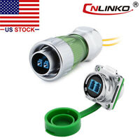 CNLINKO Fiber Optic Connector Plug & Socket Outdoor w/10ft Cable Single Mode LC