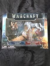 Warcraft Lothar with Gryphon vs. Blackhand with Frostwolf Figure Set