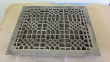 Antique Register Cast Iron Floor Grate 12 x 15 Opening 14 x 17 Outside