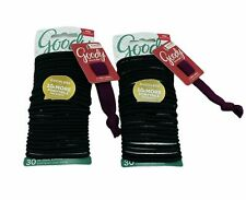 GOODY OUCHLESS No Metal Hair Ties Elastics Pony Tail 60 Count Black BOGO Deal