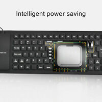 Mini Slim 85-key USB Wired Compact Thin Keyboard for Desktop Mac PC Laptops