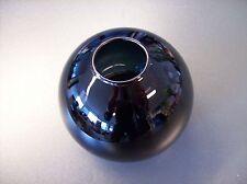 Glas Lampenschirm Ersatzglas Halbkugel schwarz E14 Lochmaß Fassung ø 30mm