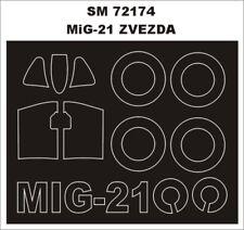 Montex Mini Mask 1:72 MiG-21 for Zvezda Kit Spraying Stencil #SM72174