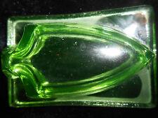 Green Vaseline glass Arrow Elevator car truck signal uranium canary radioactive