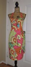 Gorgeous TRINA TURK Pink, Green & Orange Print Summer Halter Dress ~ SZ 4 ~ MINT