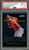 2011 bowman chrome throwbacks #bct17 MANNY MACHADO orioles rookie card PSA 8