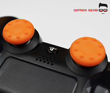 2 x Rubber Thumb Stick Cover Grip - PS3 PS4 XBOX One Analog Controller - Orange
