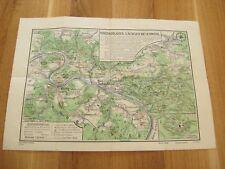 alte Landkarte Wanderkarte Sächsische Schweiz um 1946/48 Bad Schandau Königstein