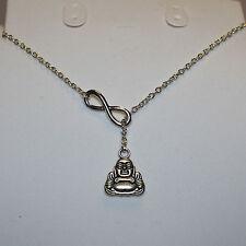 Hermoso Collar Estilo lariet-Infinity & Buda * gratis * 1St Class Post
