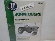 new IT John Deere shop manual for JD-203 tractor manuals