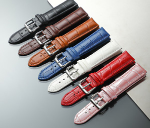 Women Genuine Leather Watch Strap Twister pink red blue 12mm 14mm 16mm 18mm 20mm