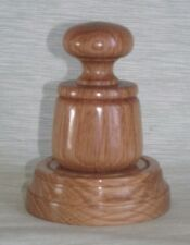 WOODEN PALM POCKET GAVEL AND SOUNDING BLOCK IN QUALITY OAK WOOD