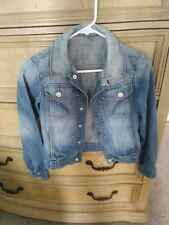 UNITED COLORS OF BENETTON JEAN BLUE DENIM JACKET YOUTH SIZE L 8/9
