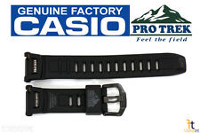 CASIO Pathfinder PRO TREK PRG-130Y Black Rubber Watch BAND Strap PRW-1500YJ