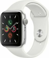 Apple Watch Series 5 44mm Silver Aluminum Case White Sport Band - (MWVD2LLA)