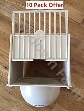 10 x CANARY PLASTIC NEST PAN BOX HANGS ON OUTSIDE OF CAGE IDEAL FOR SMALL BIRDS