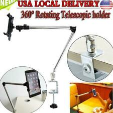 360° Rotating Arm Desk Bed Holder Stand Lazy Table Mount Bracket For iphone/iPad
