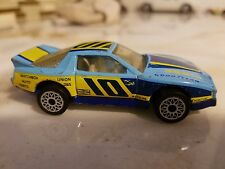 Matchbox 1985 Pontiac Firebird Trans Am Racer #10 Light Blue with Yellow Stripes