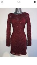 FAB RED LIPSY SEQUIN XMAS PARTY EVENING DRESS SZ 10