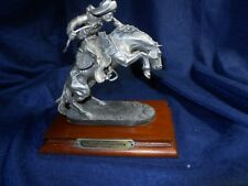 """Chilmark Pewter """"The Bronco Buster"""" 1987 Remington LIMITED EDITION"""