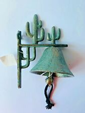 Rustic Green Cactus Cow Bell Dinner School Country Farm Ranch Farmhouse Rustic