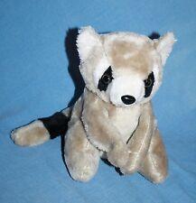 "Vtg Korea Plush Stuffed RACCOON Animal Soft Toy Sits 8"" With No Baby 29059"
