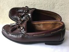 "Bass ""Peaks"" Womens 7.5 Reddish Brown Leather Kiltie Tassel Loafers Shoes NICE!"