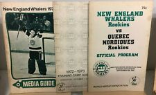 New England Whalers 1972-1973 Media/Training Camp Guide Lot