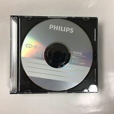 5 PHILIPS Logo 12X CD-RW CDRW ReWritable Blank Disc Media in Slim Jewel Cases