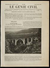 1909, Le viaduc de Wiesen, sur la Landwasser (Engadine) - Architecture