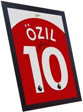 Mesut Ozil signed autograph Arsenal t shirt Framed Printed on CANVAS 100% COTTON