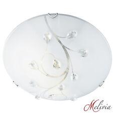 Searchlight Vigne Flush Ceiling Light 30cm Crystal Glass 2140-30