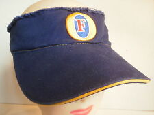 Foster's Lager Beer Visor Hat NWT Blue with Detailed Embroidery Foster Fosters