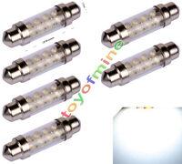 6pcs DOME Festoon 39mm 8 SMD LED CAR AUTO C5W Interior Lamp Light Bulb White 12V