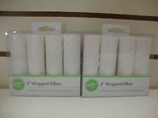"""WILTON DOTTED 4"""" WRAPPED PILLARS -- CAKE DECORATING PILLARS - 2 PACKAGES"""