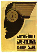 SWISS AUTO SHOW Vintage Auto Advertising Reproduction CANVAS PRINT 24x32 in.