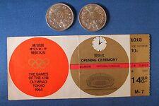 1964 Japan 2 Silver 1000 Yen Olympic Games Mt Fuji Coins